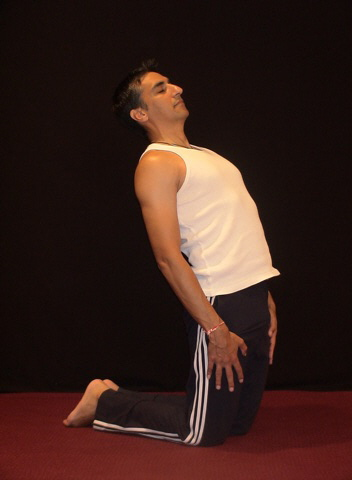 Yoga Hip Stretch End Position