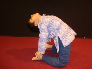 Yoga Camel Pose for Kids