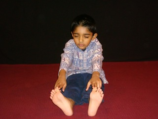 Kids Yoga Forward Bend Pose
