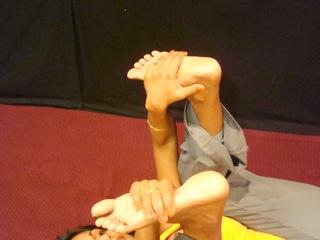 Yoga Frog Pose for Root Chakra